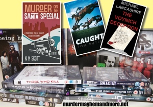 Win three new detective novels or a selection of DVDs